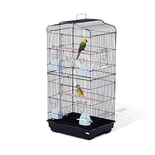 Pawhut Jaula para Pájaros Pajarera para Pájaro Loro Canario Periquito Jaula...