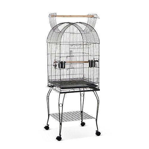 IKAYAA Jaula de Metal Casa para pájaros en Movimiento para Pocjaro Mascotas con...