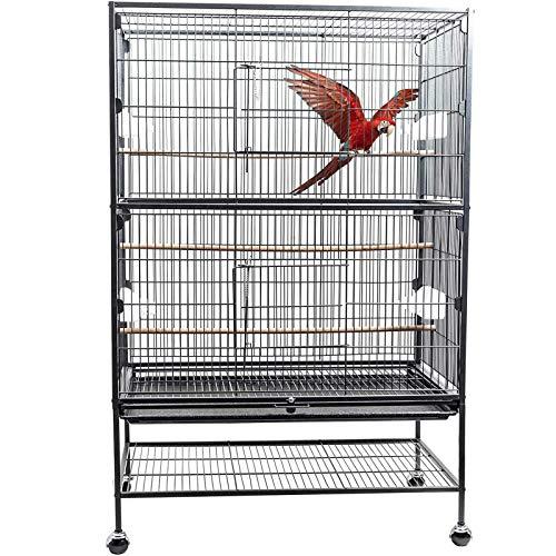 D4P Display4top Hierro Forjado Grande Negro Jaula para Pájaros Jaula de Aves...
