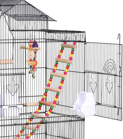 Yaheetech Jaula de Pájaros ninfas Jaula de Aves 46 x 35,5 x 99 cm en ofertas